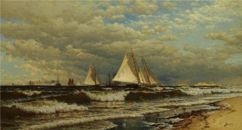 oil-painting-alfred-thompson-bricherschooner-close-hauled1883-16-x-30-inch-41-x-76-cm-on-high-defini