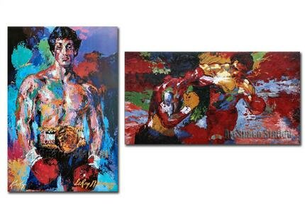 Twenty-three 24X36 Inch canvas poster Abstract Rocky Oil Painting Printing On Canvas 2Pcs Modern Boxing Player -