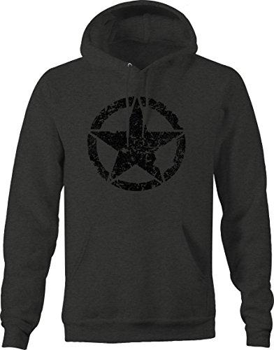 ike Jeep Military Star Sweatshirt - Large (Army Star Sweatshirt)