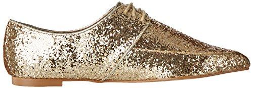 Steve Madden EMME - Zapatos de cordones para mujer Gold Glitter