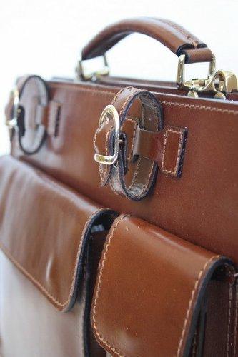modamoda de - LEDER Tasche Aktentasche Aktenkoffer BRAUN Brown hochw. NL01HB²