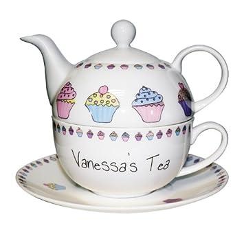 Pretty Personalised Bone China 'Cupcake' Tea For One - Tea Pot ...