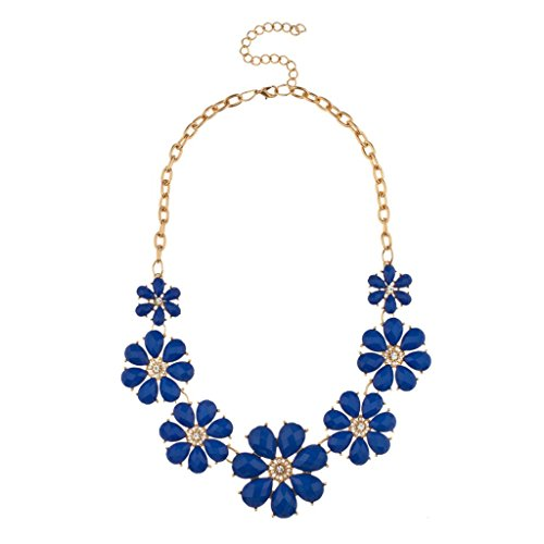 Blue and Gold Necklace Amazoncom