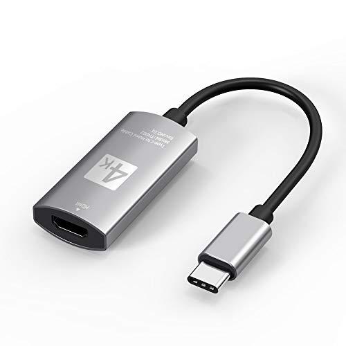 Naropox Adaptador USB C a HDMI 4K, USB 3.1 Tipo C Thunderbolt 3 Adaptador macho a HDMI hembra Compatible para Apple Macbook...