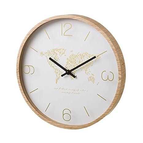 Dcasa - Reloj de pared de madera beige nórdico para cocina Vitta: Amazon.es: Hogar