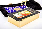 Big Gold Tarot of Rider Waite Russian English Black Velvet Pouch Valentines Gift