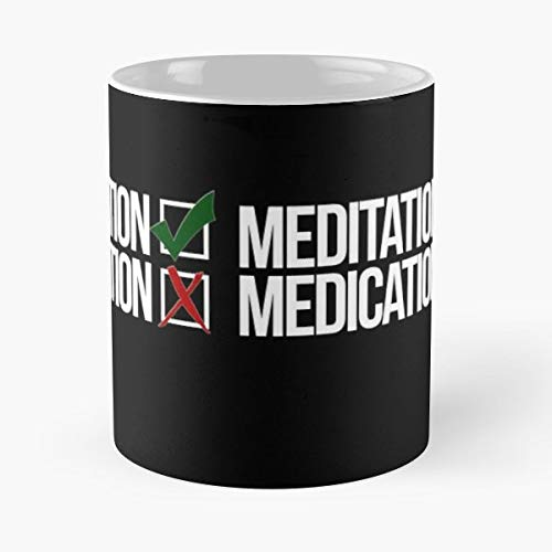 Meditation Yoga Medication Cute Gift Ceramic Novelty Cup 11 Oz ()