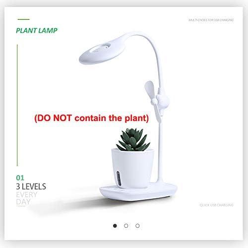 YGJD Desk Lamp, Desk Lamp,Desk Lamp with Hydroponics Case,Desk lamp with Plant Growth Light, Eye-Friendly Table Lamp, Plant Light for Hydroponics Plants, Plant Light with Mini-Fan, One Year Warranty