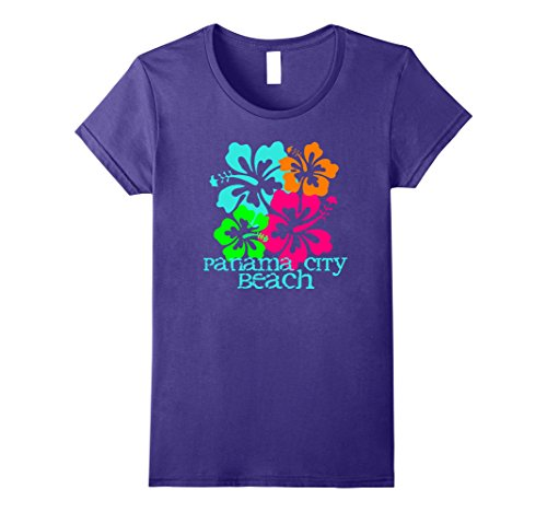 Womens Panama City Beach Tropical T-Shirt Travel Surf Tee Shirt Small - City Panama Women