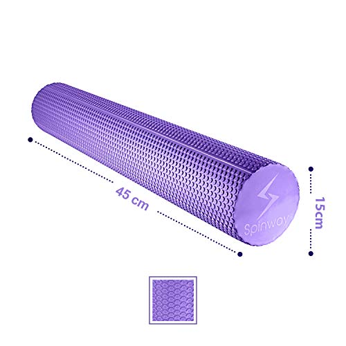 spinway Yoga Foam Roller Speckled Foam Rollers for Muscles Extra Firm High Density for Physical Therapy Exercise Deep Tissue Muscle Massage (Puple) by spinway (Image #4)