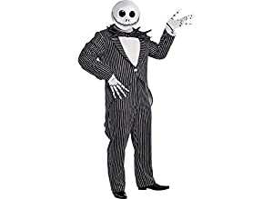 Amscan The Nightmare Before Christmas Jack Skellington Pinstripe Halloween Costume for Men, Plus Size, with Accessories