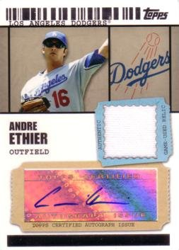 2009 Topps Ticket to Stardom Baseball #TSAR-AE Andre Ethier Authentic Autograph Game Worn Jersey Card - Only 499 made! (2009 Ticket Topps)