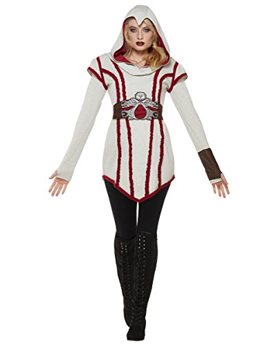 Spirit Halloween Adult Ezio Hooded Dress - Assassin's -