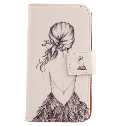 Lankashi Pattern Design Leather Cover Skin Protection Case for Archos 40 Cesium (Back Girl)