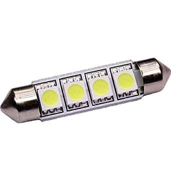 Tubular lámpara C10W/42mm 4x 5050Xenon de iluminación interior