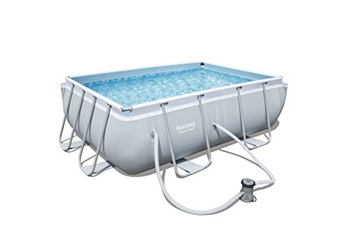 Bestway Power Steel Rectangular Swimming Pool, 3662 Litres, Grey, 2.82 x...