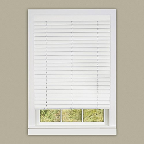 Achim Home Furnishings Luna 2-Inch Vinyl Slat Venetian Cordless Blind with Valance, 33 by 64-Inch, ()