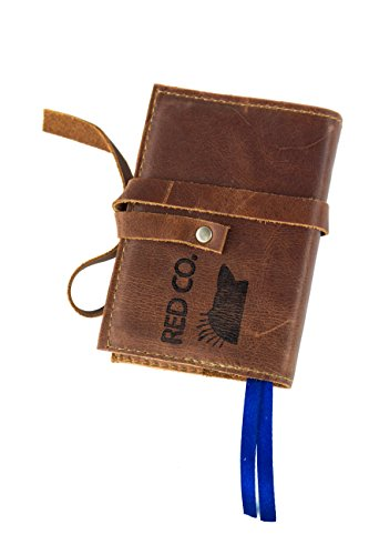 Red Co Soft Genuine Leather Pocket Size Journal With Strap, 80 Blank Pages, Brandy Brown (Strap Brandy)