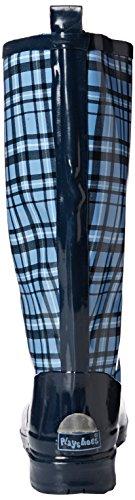Karo Classiques Femme Bleu Naturkautschuk Playshoes 7 blau Bottes Aus pIxqFpdZ