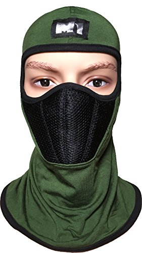 Ranger Return M1 Full Face Cover Balaclava Protecting Filter Face Mask Green OD (BALA-GREEN-FILT)