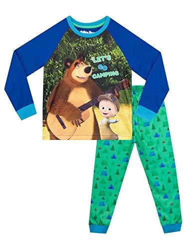 Masha and The Bear Boys Pajamas Multicolor Size 5
