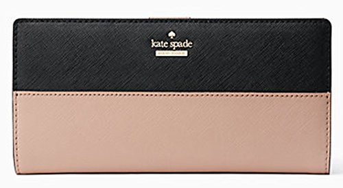 Kate Spade Cameron Street Large Stacy Wallet Model PWRU5286-234 (Black/Toasted Wheat) by Kate Spade New York