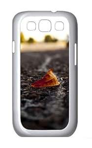 Lone Leaf Custom Samsung Galaxy I9300/Samsung Galaxy S3 Case Cover Polycarbonate White