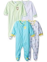 Baby Girls' 4-Pack Sleep 'N Play
