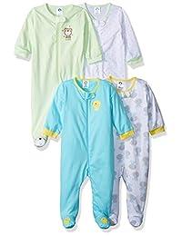 Gerber unisex-baby Baby 4 Pack Variety Sleep 'N Play
