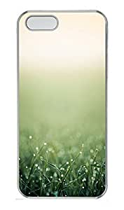 iPhone 5 5S Case Green Grass Closeup iOS7305 PC Custom iPhone 5 5S Case Cover Transparent