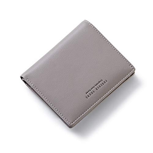 AnnabelZ Women Wallet Small Bifold Soft Leather Pocket Wallet Ladies Mini Short Purse(Grey) ()