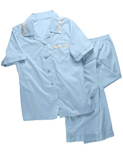 Tailored Womens Pajamas (National Tailored Pajamas, Blue, X-Large - Short Sleeve)