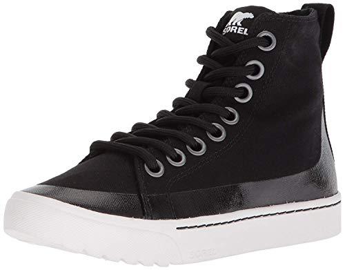 SOREL Women's CAMPSNEAK Chukka Sneaker, Black, 7.5 Medium US