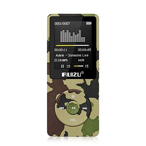 RUIZU HiFi 8GB Mp3 Player 50 hours Lossless Sound Playback  