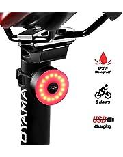 DONPEREGRINO M2 - LED Feu Arrière de Vélo Durée 8 Heures USB Rechargeable avec Plusieurs Modes