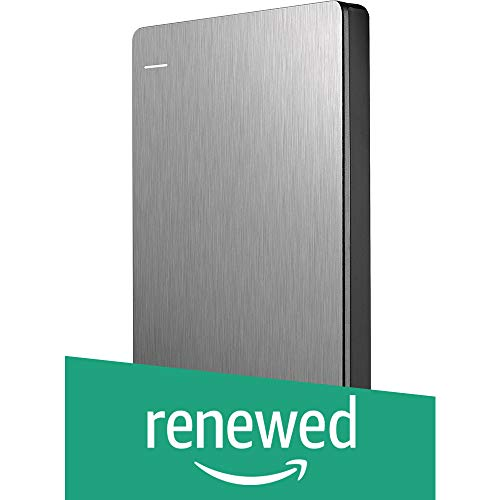 (Renewed) Seagate 1TB Backup Plus Slim (Silver) USB 3.0 External Hard Drive for PC/Mac with 2 Months Free Adobe Photography Plan & Kaspersky Antivirus 1 Year Subscription