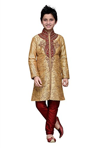 Dessa Collections Indian Designer Partywear Ethnic Wedding Chikoo Wedding Readymade Kid by Dessa Collections