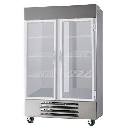 Beverage-Air FB49-1G 52'' Vista Series Two Section Glass Door Reach-In Freezer 49 cu.ft. Capacity Stainless Steel Front Robust Gray Painted Exterior Sides Aluminum Interior with Bot