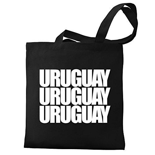 three words Eddany Eddany Tote Canvas words Uruguay Uruguay Bag three nqf6S