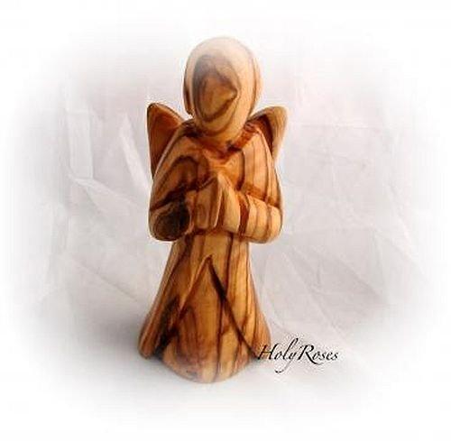 Olive Wood Angel of GraceTM Miniature Sculpture.
