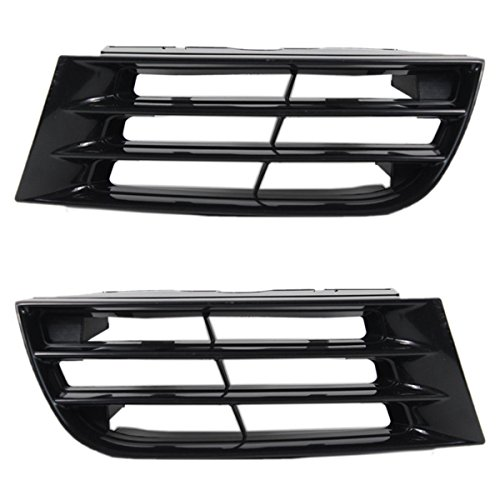 Koolzap For 02-03 Galant Front Grill Grille Assembly Black Shell Left & Right Side SET PAIR