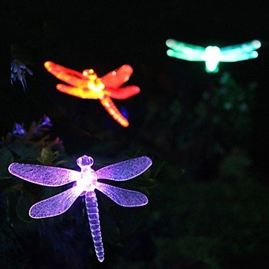 Solar Color Changing Dragonfly Garden Stake Light