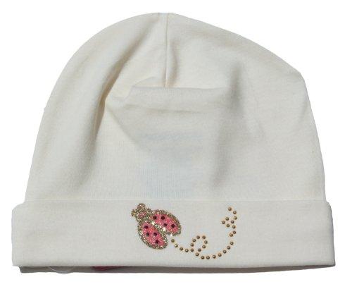 Pima Ladybug Hat - Vanilla Cream 6-12 months