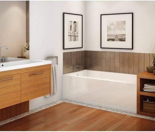 MAAX 105705-R-000-001 Rubix Acrylic Right-Hand Bathtub, 59.75-in L x 32-in W x 18.375-in H, White