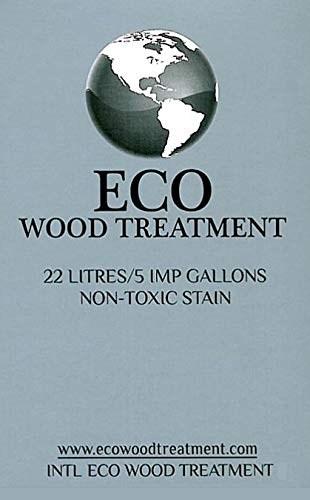 Eco Wood Treatment EWT5 5 US Gallon, Long Lasting, Silvery Patina | Semi-Transparent (1 Pack)
