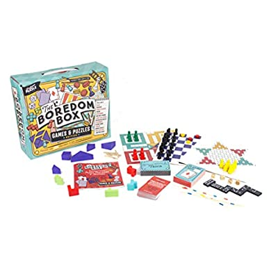 Professor Puzzle The Boredom Box - Huge Games & Puzzles Set - Over 250 Activities from Classic Board Games to lateral Thinking Puzzles: Toys & Games
