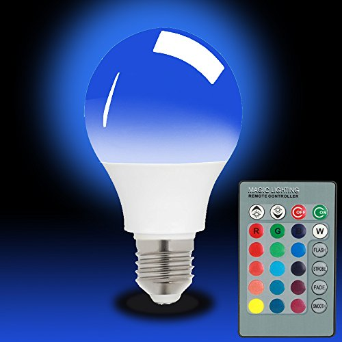 Magicmoon E27 15W RGB LED Licht Birne 16 Farben Ändern Dimmbar Multi Color LED Licht mit IR Fernbedienung 360 ° Abstrahlwinkel LED Lampe 85-265V für Haus Dekoration / Bar / Party / KTV Stimmungs Beleuchtung