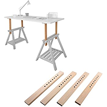 beech wood desk table leg trestle with shelf height and angle adjustable also. Black Bedroom Furniture Sets. Home Design Ideas