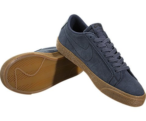 Nike Men's Sb Zoom Blazer Low Thunder Blue/Ankle-High Suede Skateboarding Shoe - 10M by Nike (Image #2)