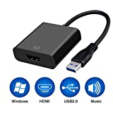 Awesome USB3.0 to HDMI Adapter, USB to HDMI Converter 1080P Windows 7/8/10 Computer ONLY (NO MAC/Linux /Vista)